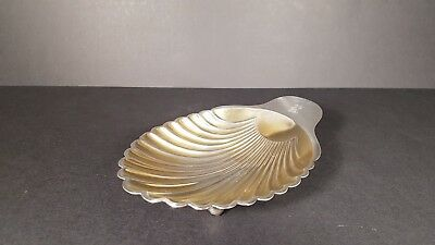 Tiffany silver plated scallop shaped shell dish