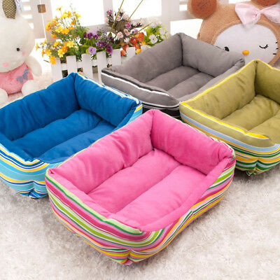 Rainbow Soft Puppy Dog Cat Pet Bed Home House Nest Cushion Sofa Pet Kennel