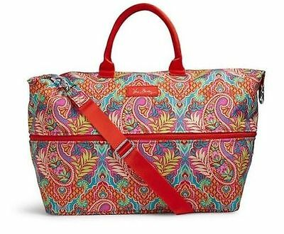 VERA BRADLEY EXPANDABLE TRAVEL CARRY ON BAG Paisley In Paradise Free Shipping