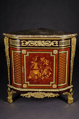 Princely Corner Chest in the Style Louis XVI Style after Jean Henri Riesener