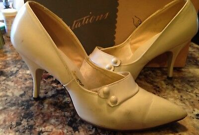 Women's Heels Shoes Spike True Vintage Size 7 With Vintage Box Mid Century