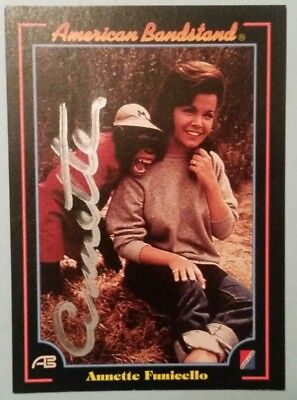 Annette Funicello Autographed 1993, American Bandstand Trading Card