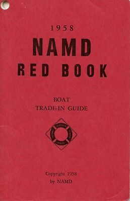 Vintage 1958 NAMD Red Book Boat Trade-In Guide