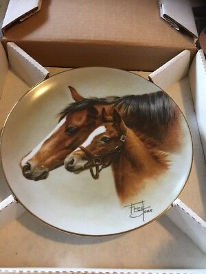 Artist Fred Stone Horse Tranquility Plate Limited Edition NUMBERED