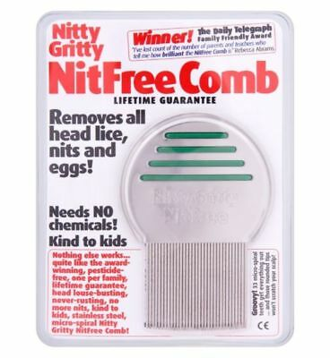Nitty Gritty Nitfree Head Lice Comb Sealed