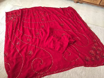Bollywood Saree/sari.indian/pakistani Wedding/bridal.red.