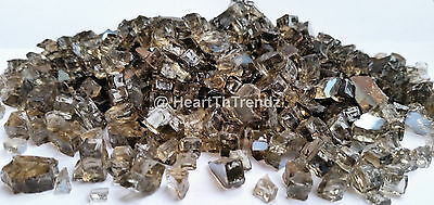 """10 lbs of Reflective Bronze Premium Fire Glass 1/4""""  Made In USA"""