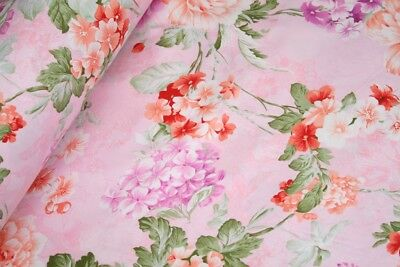 "Big Floral 100% cotton fabric sold by the meter 63"" /160cm  super width 1709034"