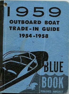 Vintage 1959 Outboard Boat Blue Book Trade-In Guide
