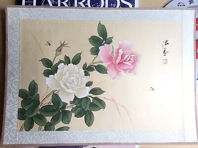 20th Century Large CHINESE Watercolor Painting On Silk Signed By The Artist(6)