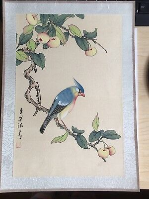 20th Century Large CHINESE Watercolor Painting On Silk Signed By The Artist(4)