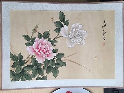 20th Century Large CHINESE Watercolor Painting On Silk Signed By The Artist(2)
