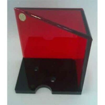 2 deck discard holder acrylic red black base
