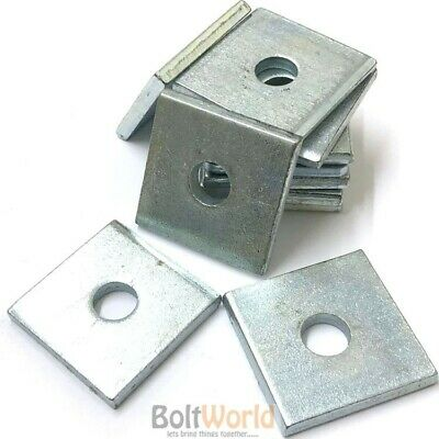M6 M8 M10 M12 M16 M20 THICK ZINC PLATED SQUARE PLATE WASHERS BZP 40x40mm 50x50mm
