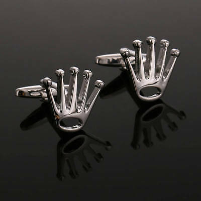 Mens Rolex Crown Polished Luxury Shirt Cufflinks - FREE INTERNATIONAL SHIPPING