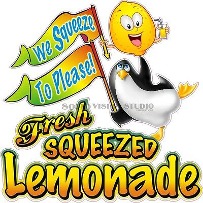"""24"""" Fresh Squeezed Lemonade Fun Concession Trailer Food Truck Sign Sticker Decal"""
