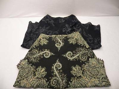 Two Size 6 Skirts Long Maxi Modest Floral Black Carole Little Gap