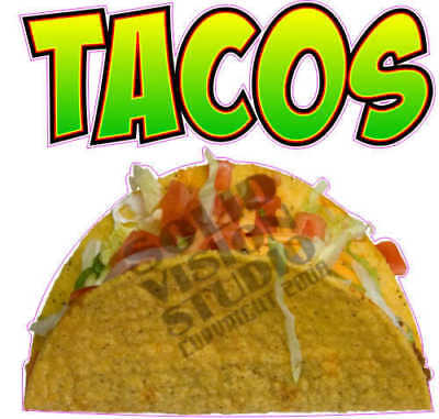 "7"" Taco Fun Concession Trailer Mexican Restaurant Decal"