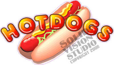 Hot Dog Concession Trailer Restaurant Menu Dogs Decal