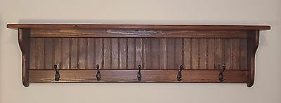 Wall Coat Rack Shelf 48""