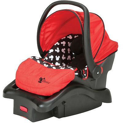 Disney Baby Light N Comfy Luxe Infant Car Seat, Mickey Silhouette