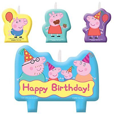Peppa Pig Cake Candle Set 4 Piece
