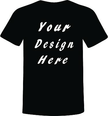 Custom T-Shirts  Black Full Color One Side TALL Size