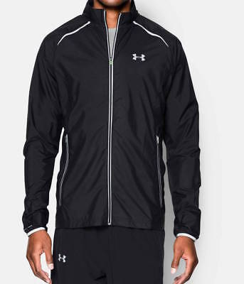 NEW Under Armour 1253577 Men UA Storm Launch Run Rain Jacket , Black L