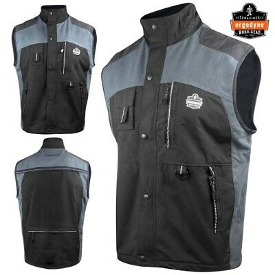 Ergodyne N-Ferno Thermal Insulated Construction Worker Vest Black - Choose Size