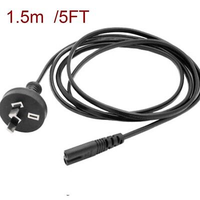 5ft AU Plug 2 Pin 2Pin Laptop Adapter AC Power Cord Cable Lead 2 Prong