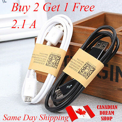 2.1 A High Quality Micro USB Charger fast Charging Data Sync Cable 1m
