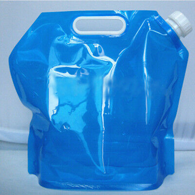 5L Foldable Drinking Water Bag Outdoor Storage Carrier Camping Container Bag