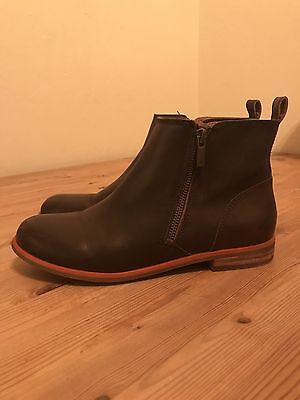Women's Lucky Brand Dalia Brown Leather Ankle Boots Booties Size 8