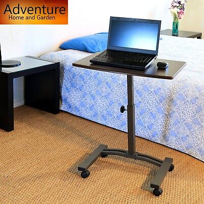 Laptop Desk Cart Table Stand Adjustable Mobile Computer Portable Rolling Office