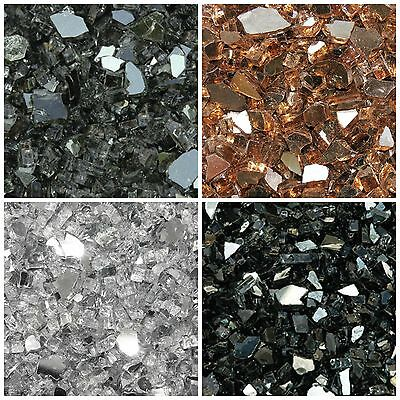 10lbs Reflective Fire Glass Multiple Colors for Fire Pits and Fire Place