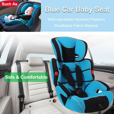 Blue Convertible Baby Child Car Seat & Booster Seat Group 1/2/3 9-36Kg Safety Au
