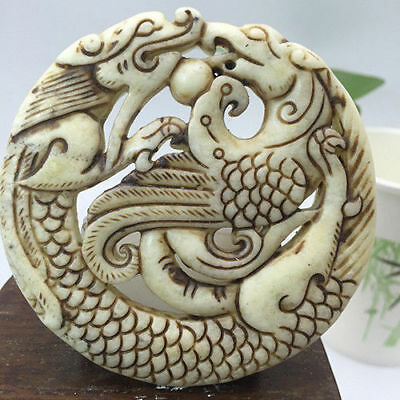 Ancient Chinese Handmade Ancient Collection Longfeng Kiss Pearls