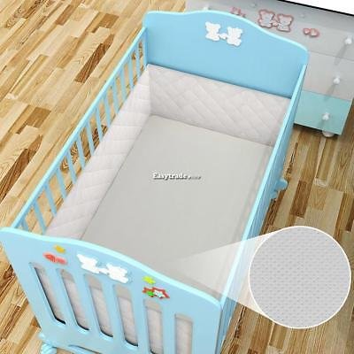 New Kids Baby Non-Toxic with Gate Fence Breathable Mesh Crib Liner Crib ESY1