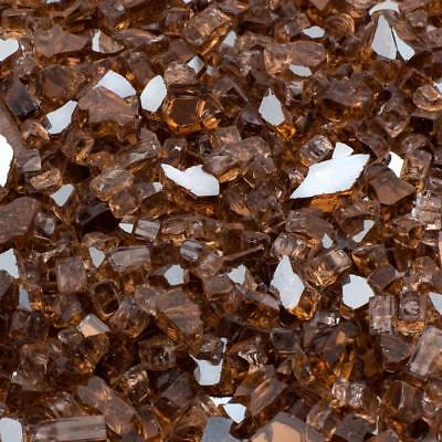 """20 lb Copper Reflective Fireglass for Fire Pits and Fireplace 1/4"""" Crushed Glass"""