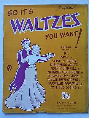 Piano Sheet Music, 10 Waltzes. Cover Loose. In Used Condition