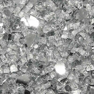 """10 lbs of Clear Reflective Fire Glass For Pits 1/4""""  Made In USA"""