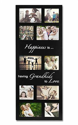 WOLTU APFC1007blkS10-a Family Picture Frame Decorative Wood Divided Wall Hanging