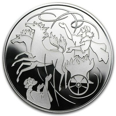 2011 Israel Elijah & Whirlwind Silver 2 NIS Coin