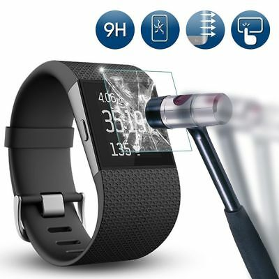 Tempered Glass Screen Protector Film fExplosion-Proof for Fitbit Surge Watch /bx