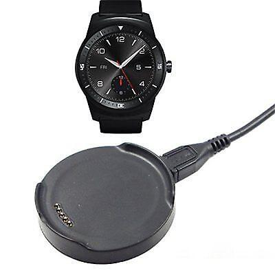 Black Plastic Cradle Charger Dock Stand Holder For LG G Watch R-W110 Smart Watch