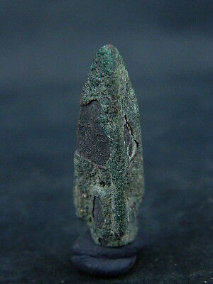 Ancient Bronze Arrow Head Luristan 500 BC  No Reserve   #B333