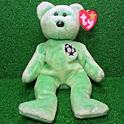 MWMT Ty Beanie Baby KICKS The Bear NEW RETIRED 1998 Plush Toy - RARE GASPORT Tag