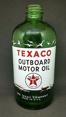Mint Texaco Outboard Motor Oil bottle