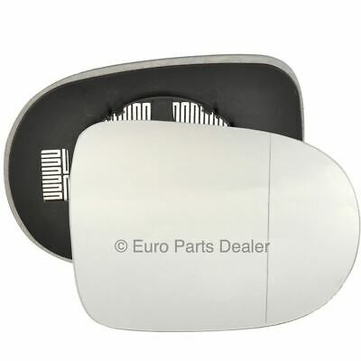 AUDI Q7 2010-/>2014 DOOR MIRROR GLASS SILVER ASPHERIC,HEATED /& BASE,RIGHT SIDE