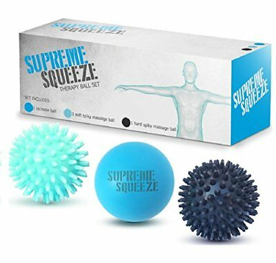 Massage Ball Roller Set Lacrosse and Spiky Ball Combo Pack for Trigger Point US